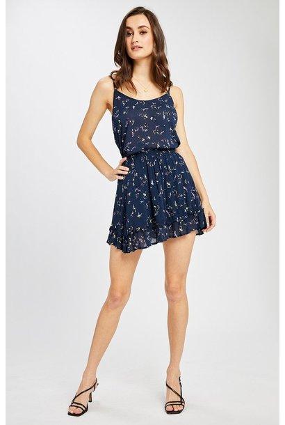 Rae Floral Skirt NVY
