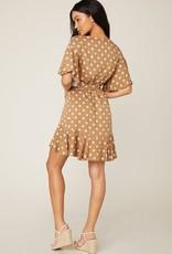 BB Dakota Butterscotch Bae Dot Dress BRN