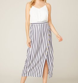 BB Dakota With a Twist Stripe Skirt NVY