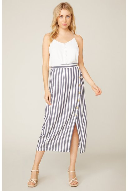 With a Twist Stripe Skirt NVY