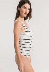 Z Supply Seri Stripe BodySuit WHT