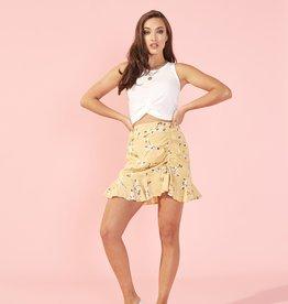Maggie Ruch Mini Skirt YEL