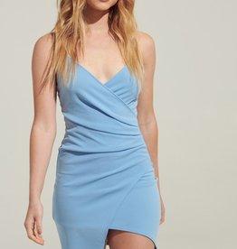 Blue Blush Wrap Tank Dress BLU