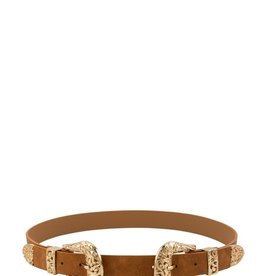 Girly Double Buckle Belt CAM/ROSE