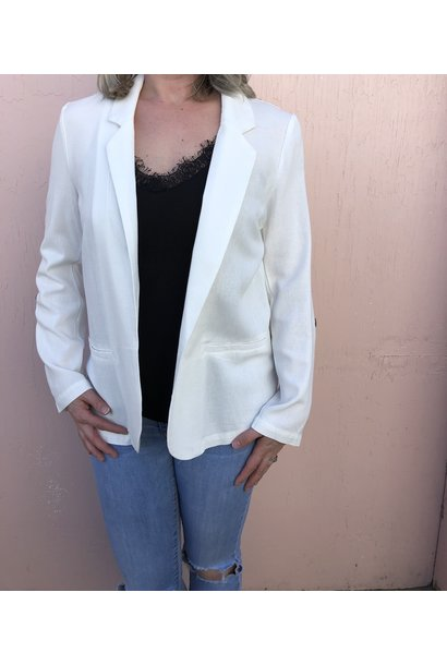 Helen Open Front 3/4 Sleeve Blazer