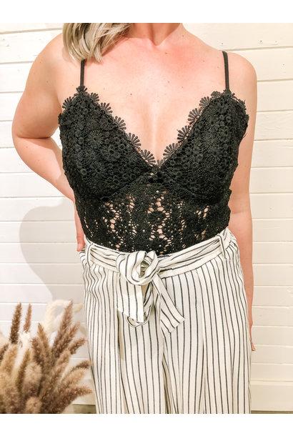 Lace Bodysuit BLK