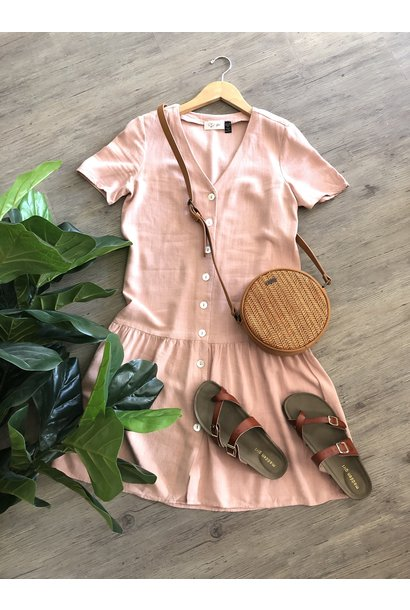 Button Front Dress PNK