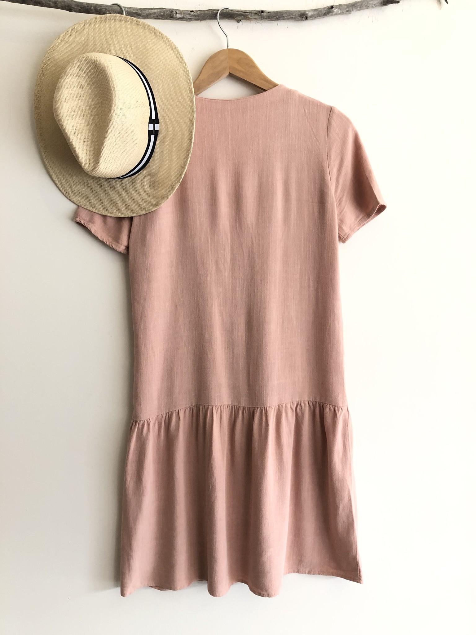 Button Front Dress PNK-2