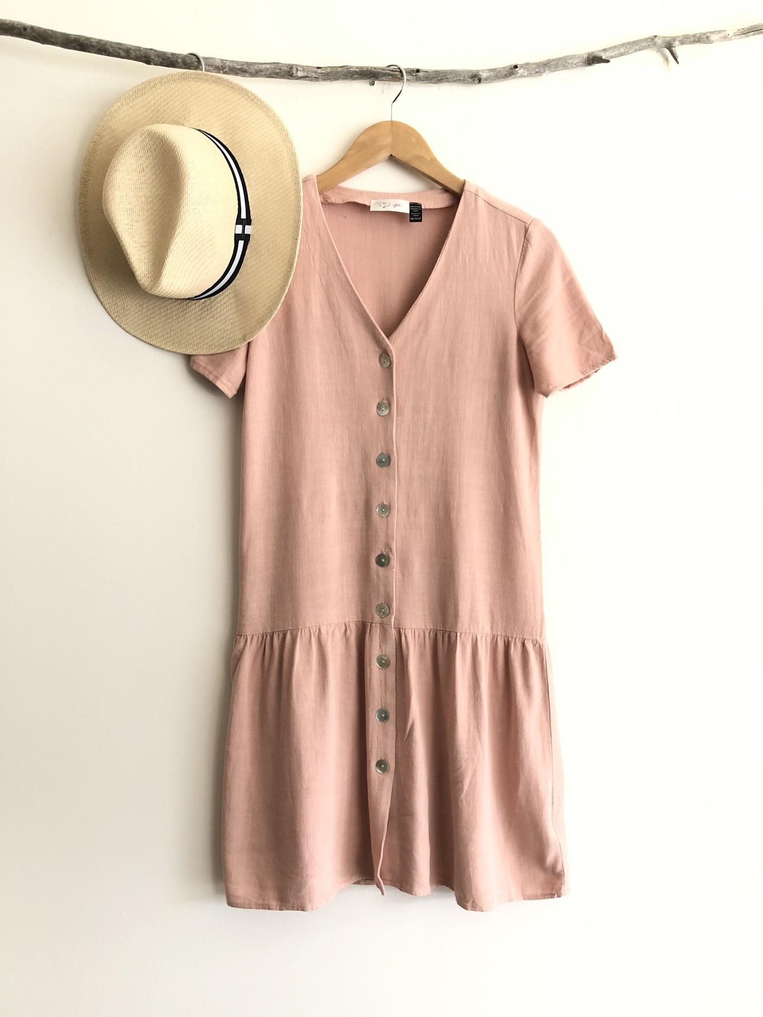 Button Front Dress PNK-3