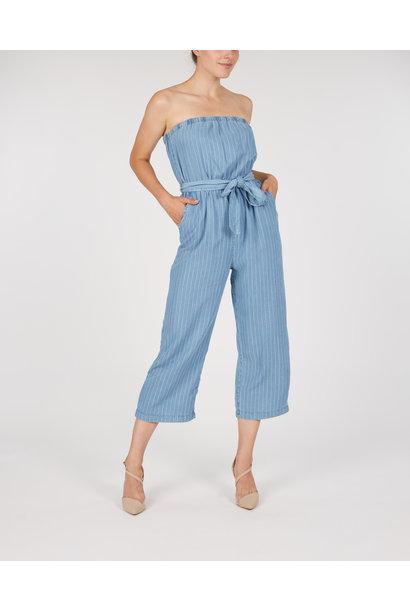Chambray Stripe Jumpsuit