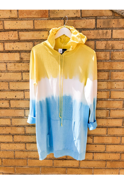 Ombre Knit Hoodie YEL/BLU