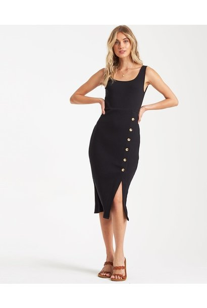 Nissi Midi Button Front Dress BLK