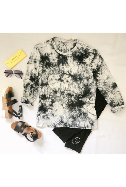 After Dark Marble L/S Top WHT