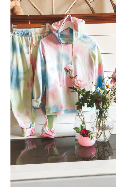 StarBurst Tie Dye Hoodie/Pant Set PNK