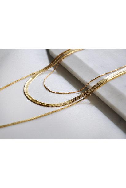 Medusa Chain Necklace GLD