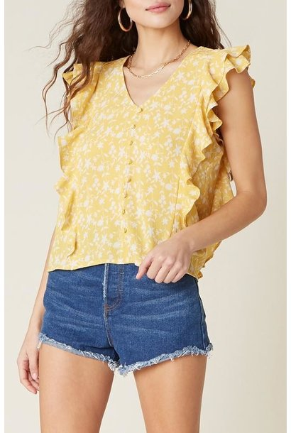 All The Frills Top YEL