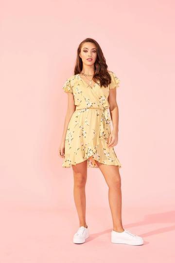 Maggie Mini Dress YEL-1