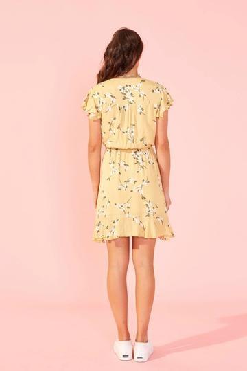 Maggie Mini Dress YEL-2
