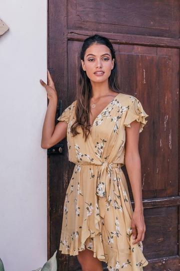 Maggie Mini Dress YEL-3