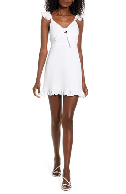 Laurel Mini Dress WHT-1