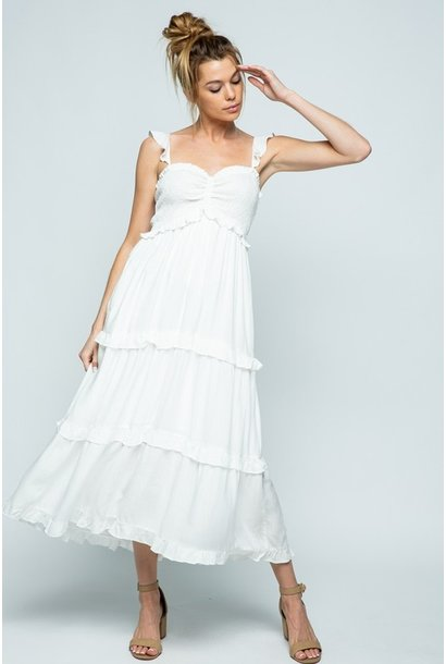 Cloud Nine Maxi Dress WHT