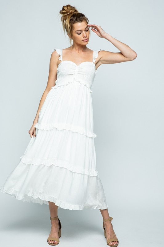 Cloud Nine Maxi Dress WHT-1