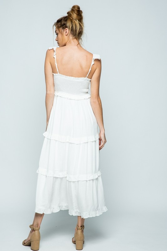 Cloud Nine Maxi Dress WHT-2