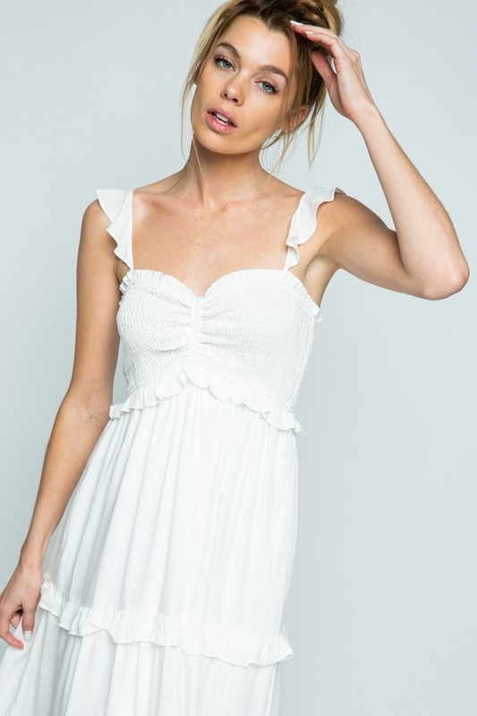 Cloud Nine Maxi Dress WHT-3