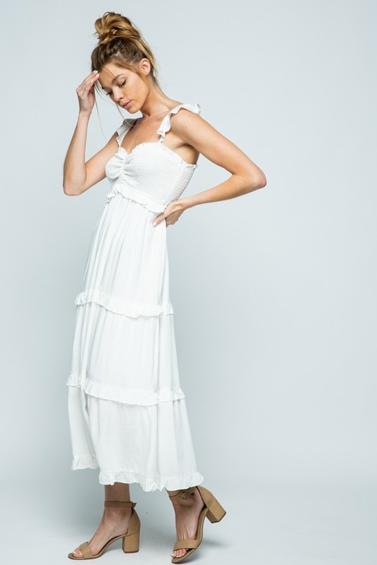 Cloud Nine Maxi Dress WHT-4