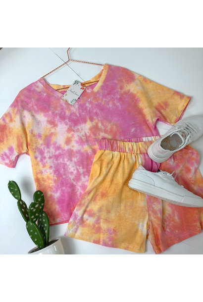 Creamsicle Tee/Short Set PNK/ORG