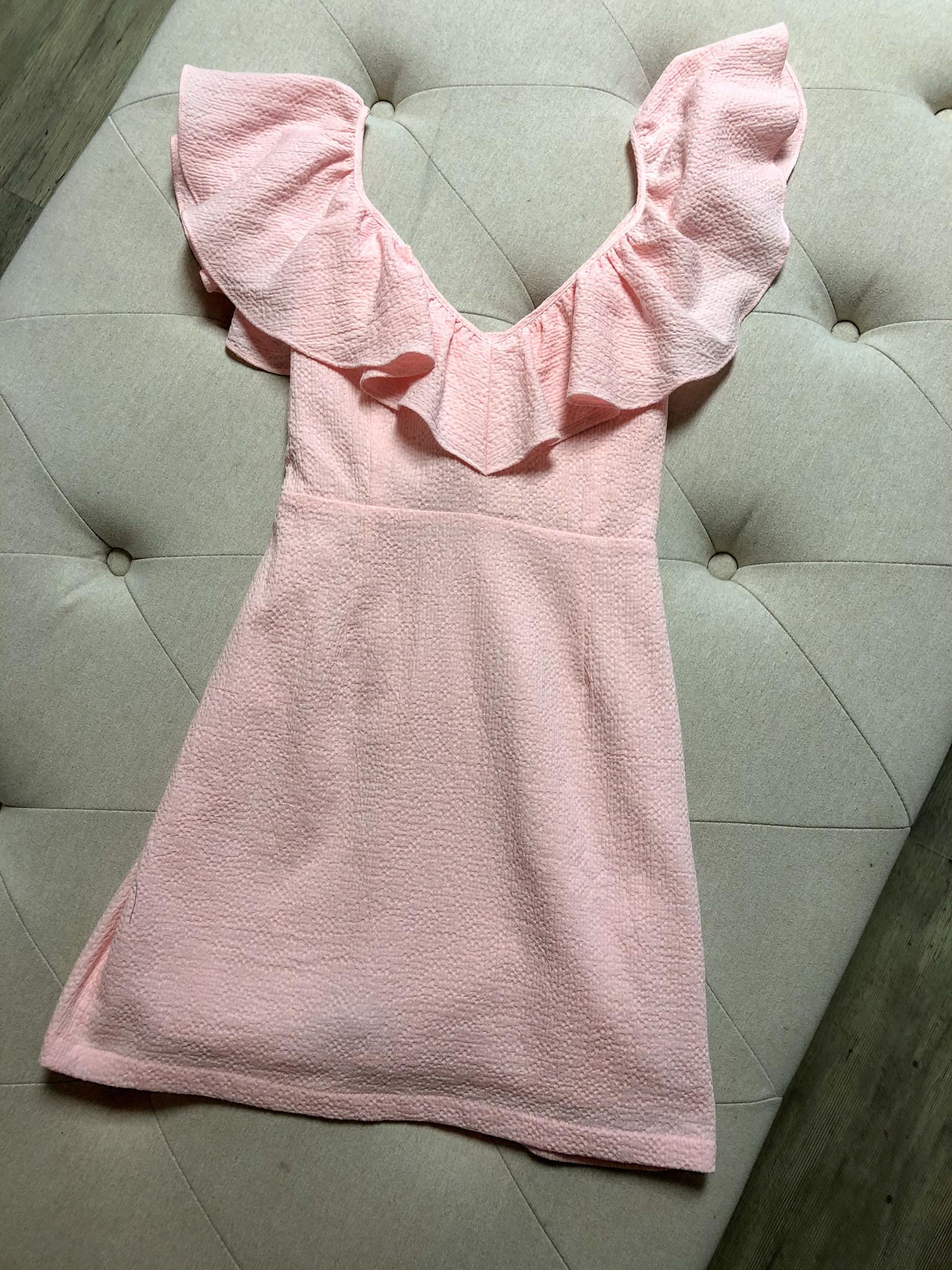 Frills Mini Dress PNK-1