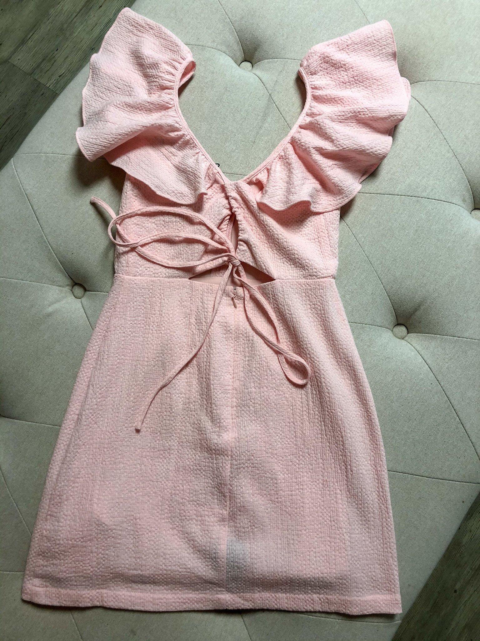 Frills Mini Dress PNK-2