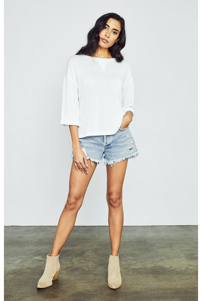 Alta 3/4 Sleeve Top WHT