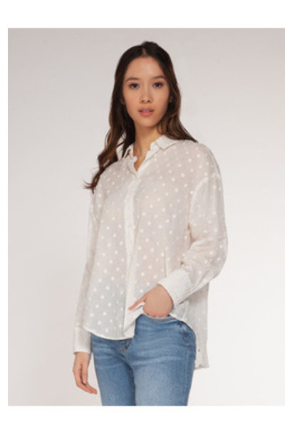 Dot Sheer Blouse WHT