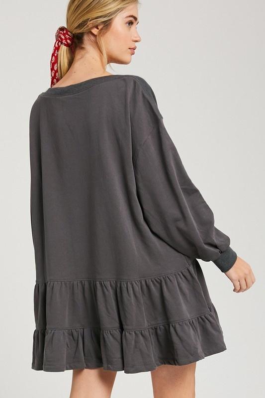 Ruffle Sweatshirt Dress CHAR-2