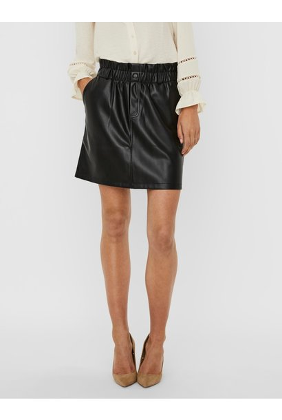 Penny High Waisted PaperBag Skirt BLK