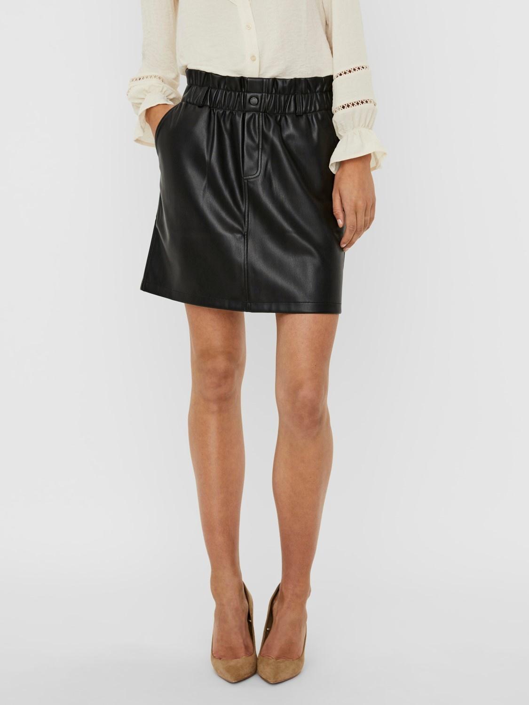Penny High Waisted PaperBag Skirt BLK-1