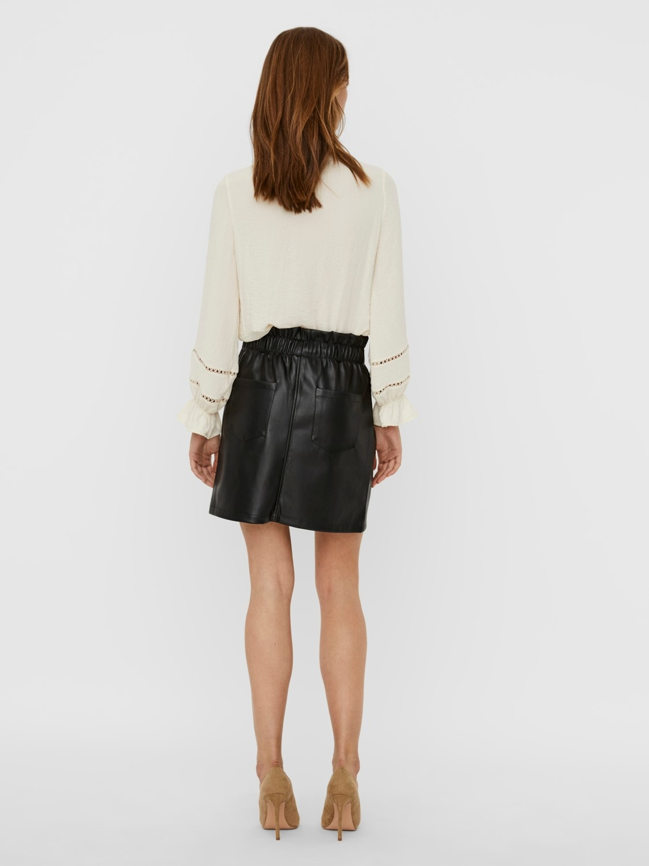 Penny High Waisted PaperBag Skirt BLK-2