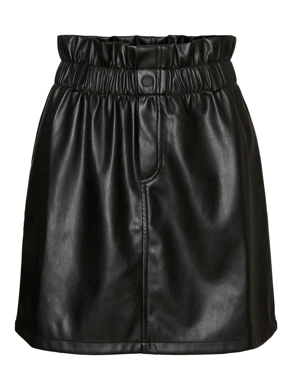 Penny High Waisted PaperBag Skirt BLK-3