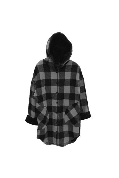 Mack Plaid Hooded Jacket GRY