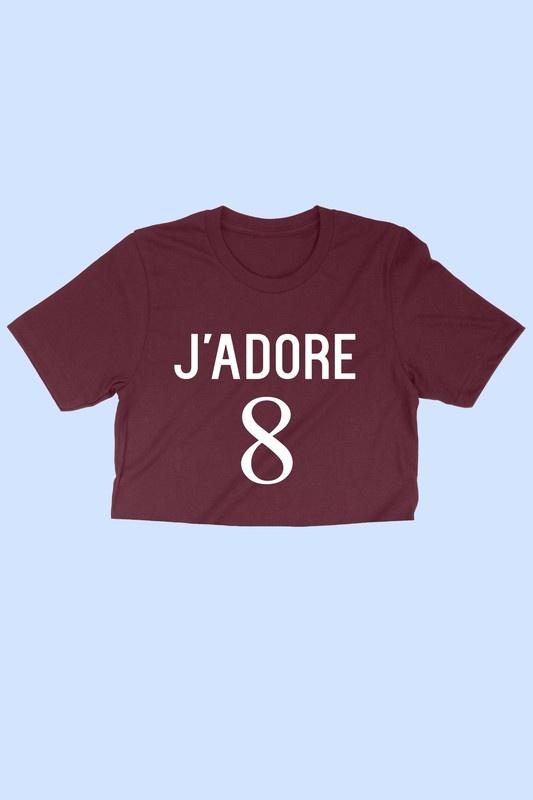 J'Adore Crop Tee BURG-1
