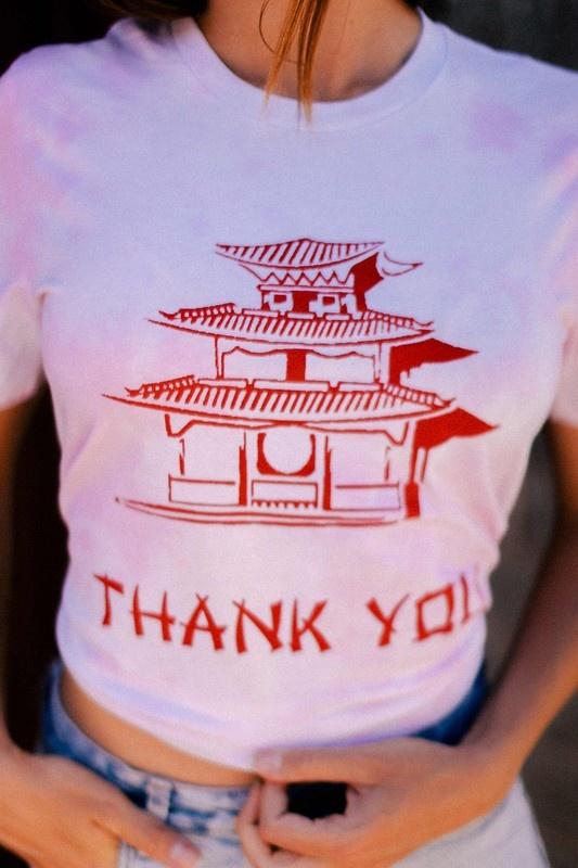 Thank You Tee PNK WSH-2