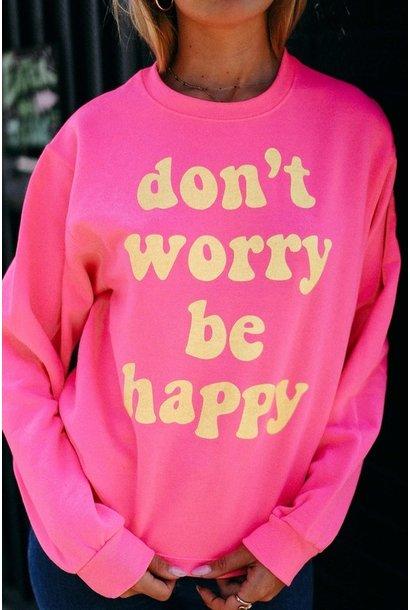 Be Happy Sweatshirt NEON COR