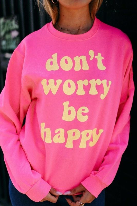 Be Happy Sweatshirt NEON COR-1