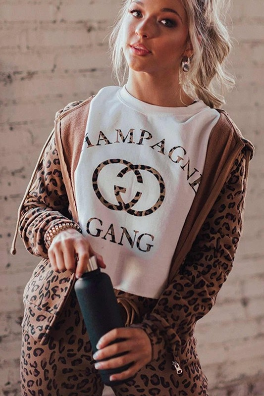 Champagne Gang S/S WHT-1