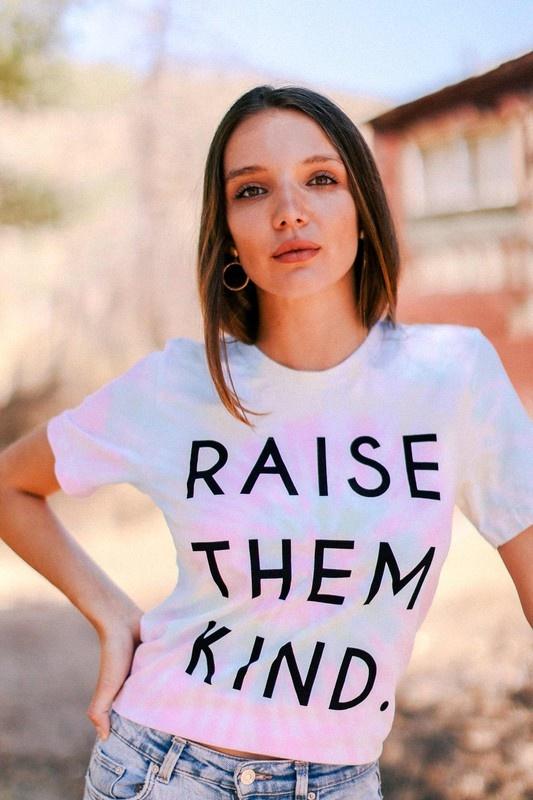 Raise Them Kind Tee PNK-2