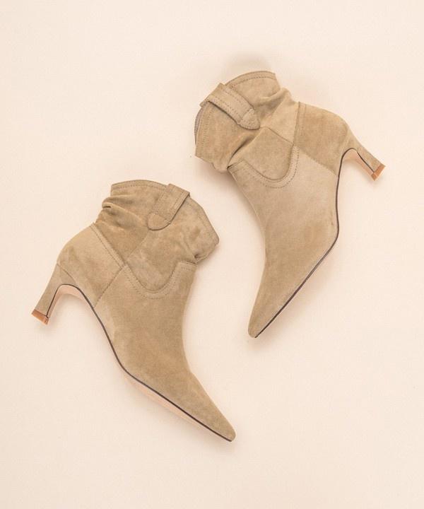 Louie Kitten Heel Boot BRN-1
