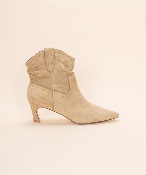 Louie Kitten Heel Boot BRN-2