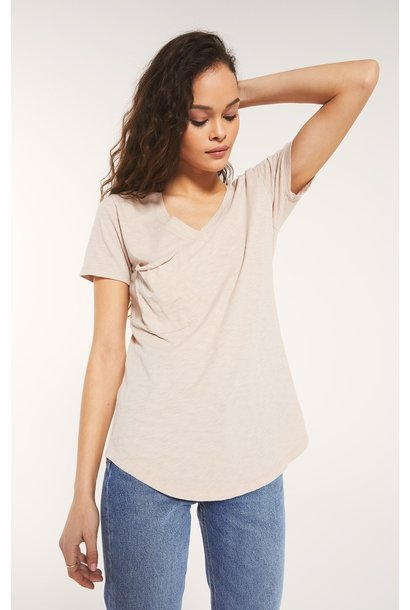 Cotton Slub Pocket Tee ASH PNK