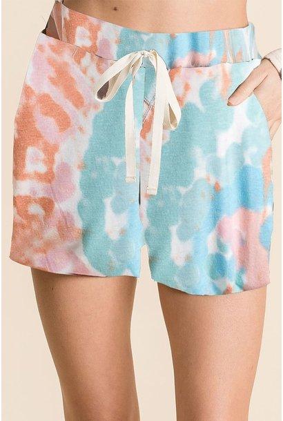 Tie Dye Comfy Short PNK/MNT